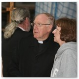 05 Bishop Colm surveys the Cathedral at the Open Day with a parishioner