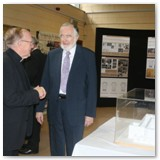 07 Bishop Colm and lead architect Richard Hurley at the exhibition of plans to date