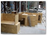 07 The protective covers made of chipboard used to protect the base and decorative capital atop the new pillars