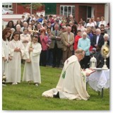 14 Benediction concludes the Coprus Christi procession